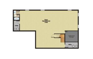 408 Quantuck Lane, Westfield- Basement Floor Plan Original