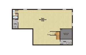 408 Quantuck Lane, Westfield- Basement Floor Plan Original