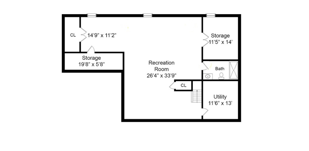 408 Quantuck Basement Floor Plan