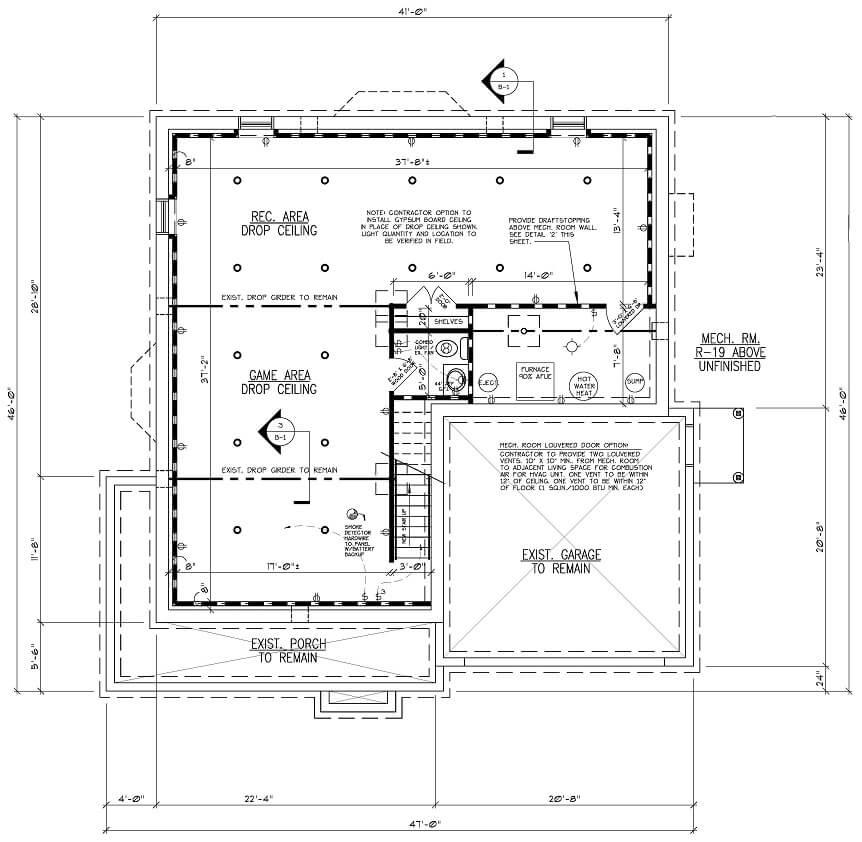 443 Beechwood Basement Floor Plan