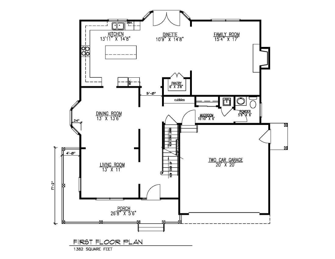443 Beechwood First Floor Plan