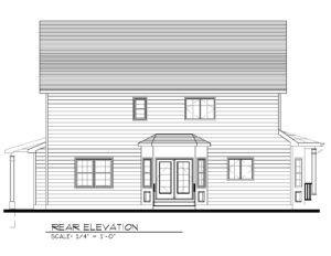443 Beechwood Place, Westfield- Rear Elevation