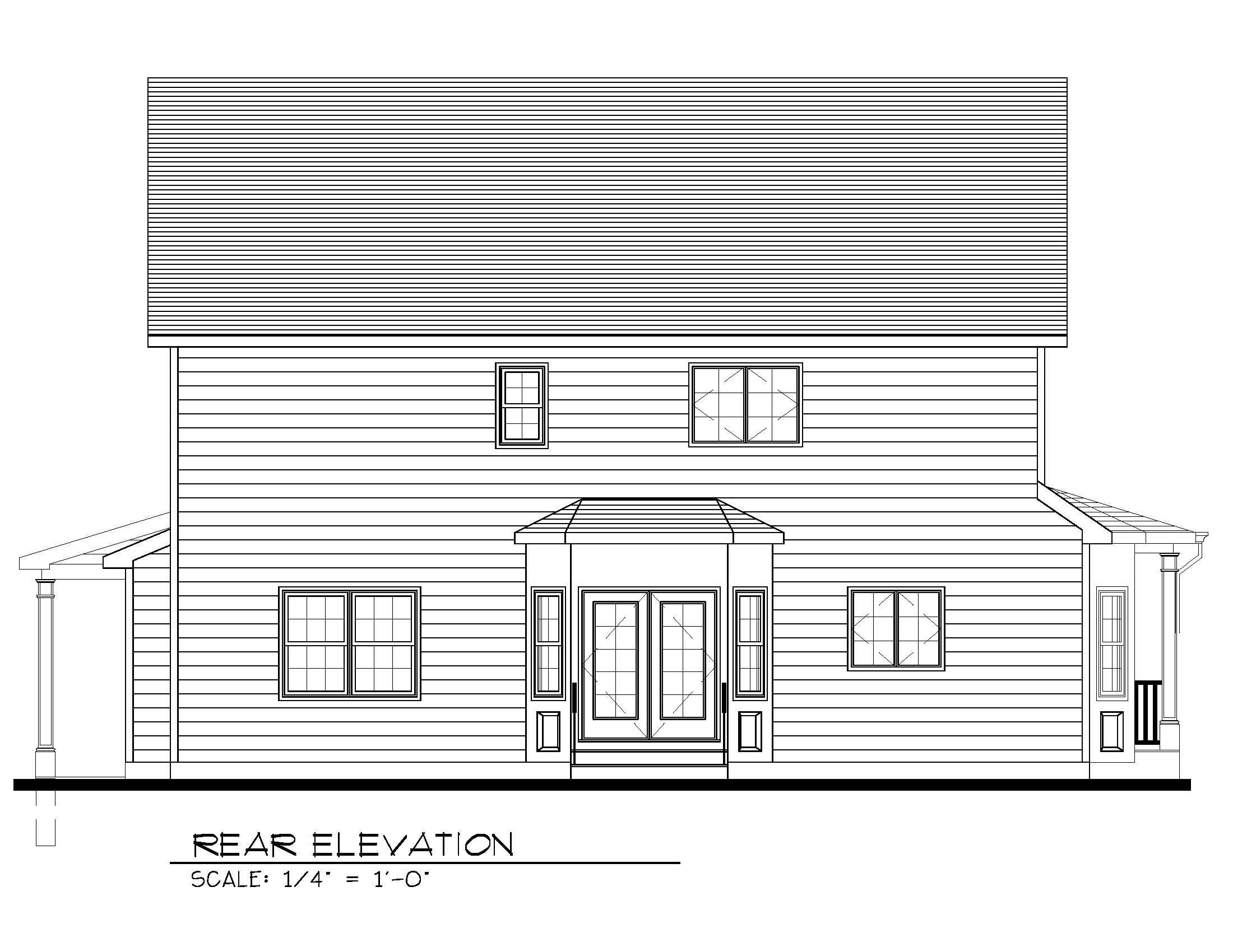 443 Beechwood Rear Elevation