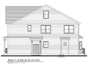 443 Beechwood Place, Westfield- Right Side Elevation