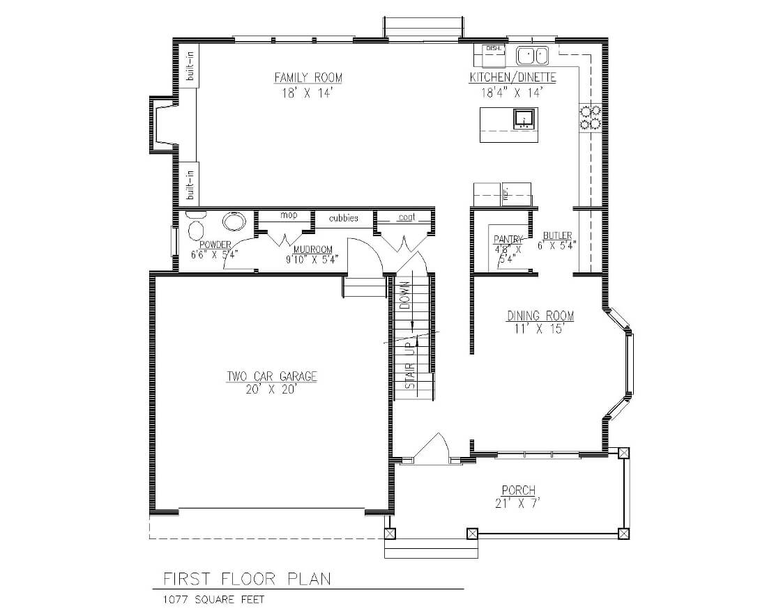 5 Village 1st Floor Plan