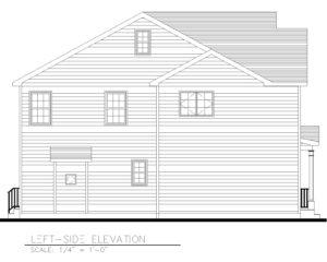 Left Elevation - 5 Village Circle, Westfield NJ