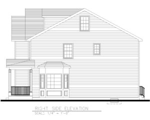 Right Side Elevation - 5 Village Circle, Westfield NJ