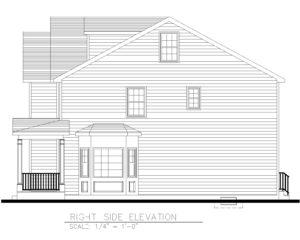 Right Side Elevation - 5 Village Circle, Westfield NJ