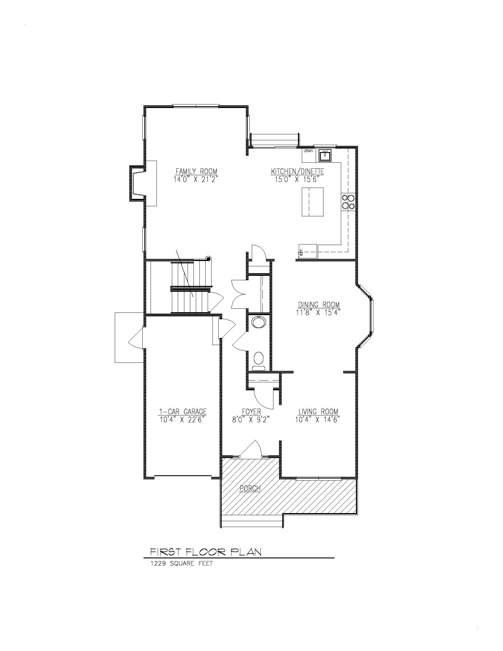610 Cumberland 1st Floor Plan B&W