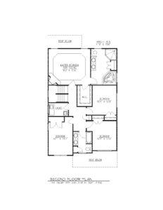 610 Cumberland Street, Westfield- 2nd Floor Plan B&W