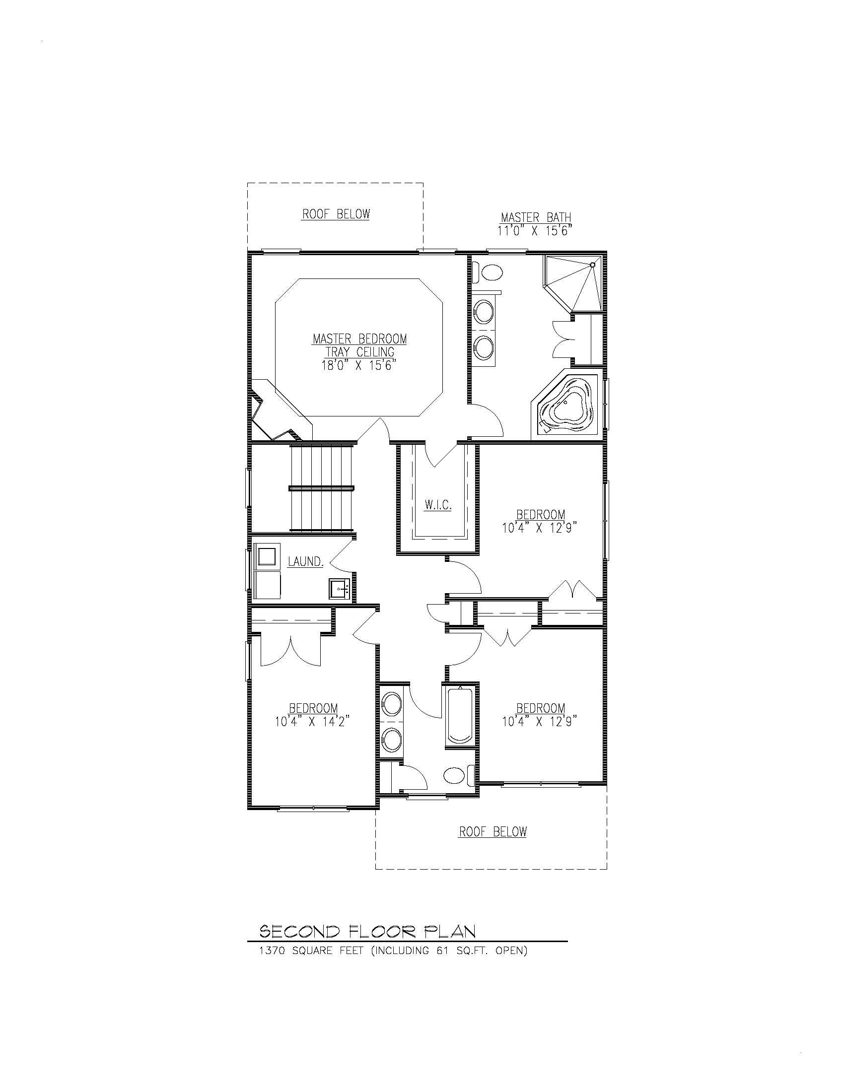 610 Cumberland 2nd Floor Plan B W Premier Design Custom Homes