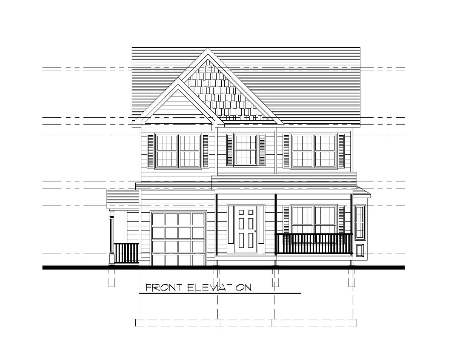 610 Cumberland Front Elevation B&W