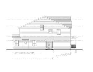 610 Cumberland Street, Westfield- Left Elevation B&W