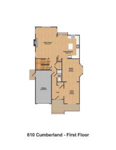 610 Cumberland Street, Westfield- Floorplan 1st Floor Color