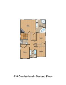 610 Cumberland Street, Westfield- Floorplan 2nd Floor Color