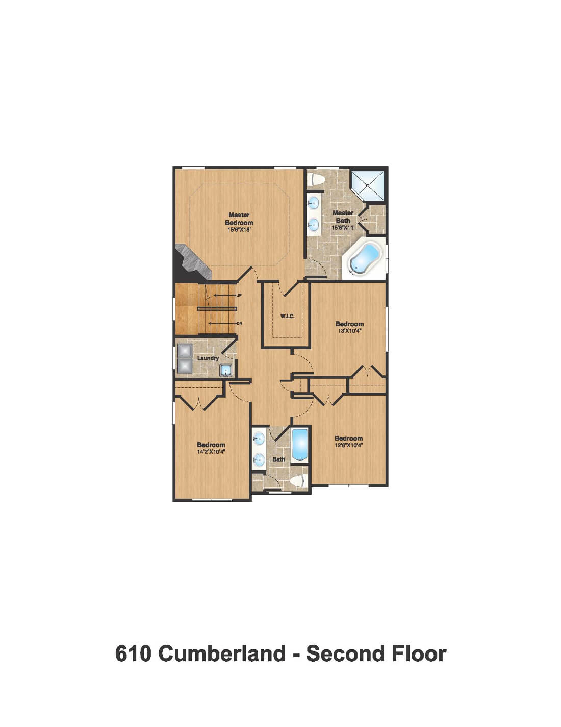 610 Cumberland Floorplan 2nd Floor Color