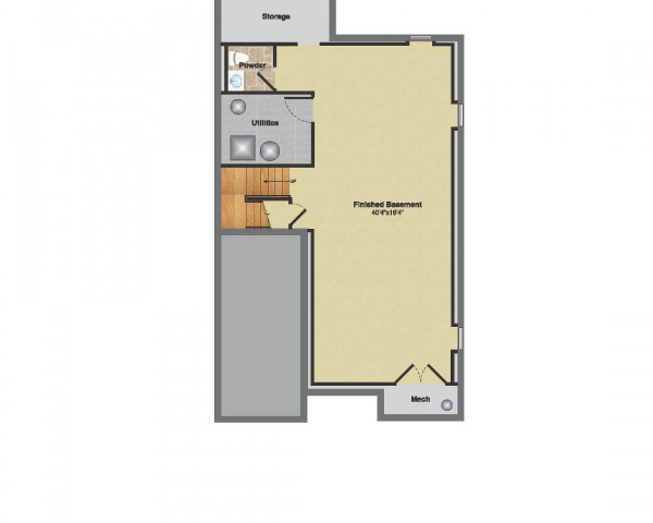 Floorplan Basement Color