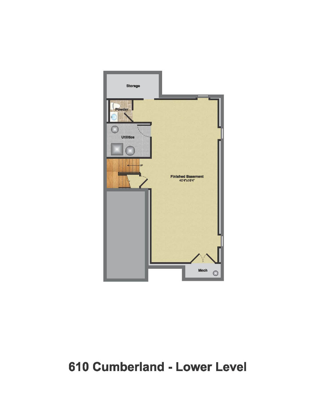 610 Cumberland Floorplan Basement Color