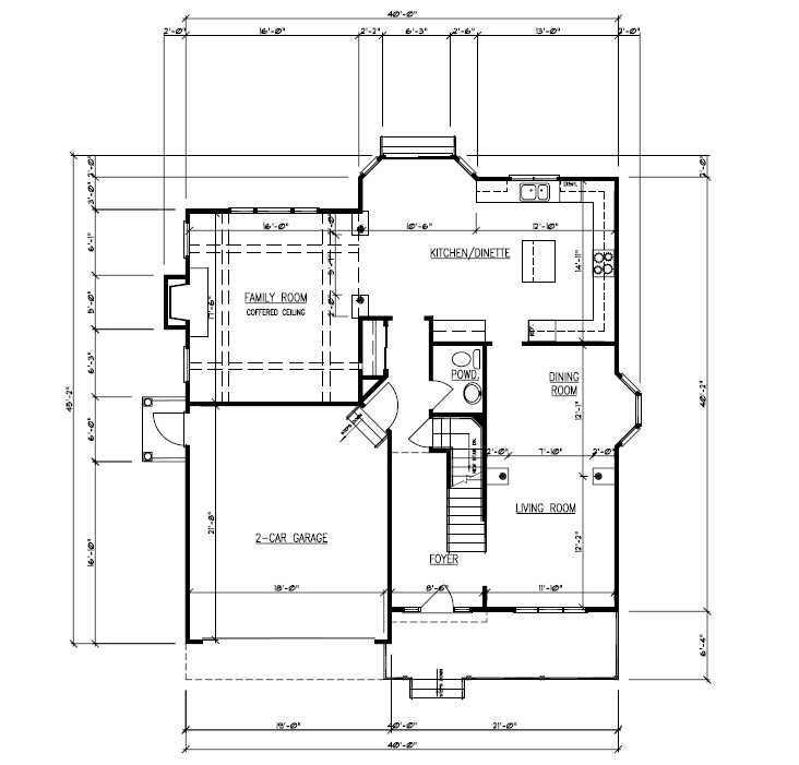 611 Norwood Floor Plan 1st Floor B&W
