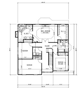 611 Norwood Drive, Westfield- Floor Plan 2nd Floor B&W