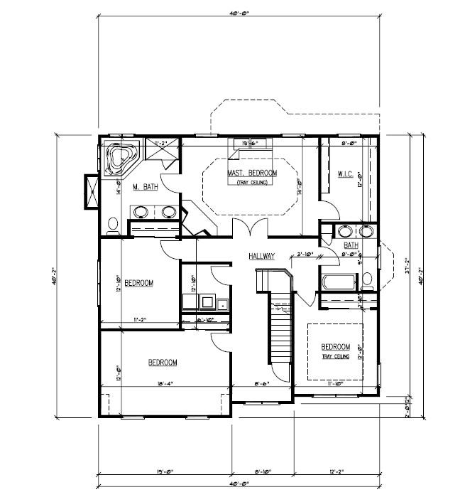 611 Norwood Floor Plan 2nd Floor B&W
