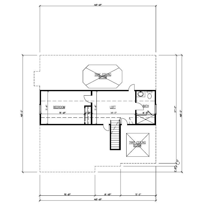 611 Norwood Floor Plan Attic B&W