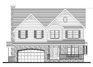 611 Norwood Drive, Westfield- Front Elevation B&W