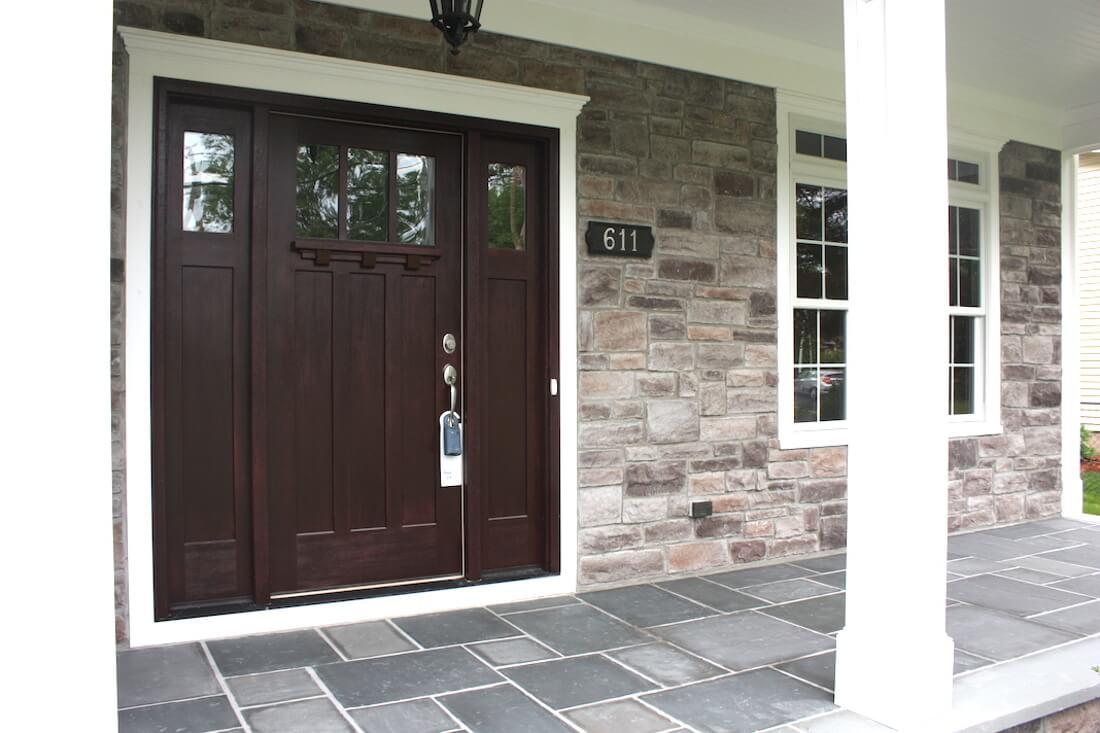 611 Norwood Front Entry Stone