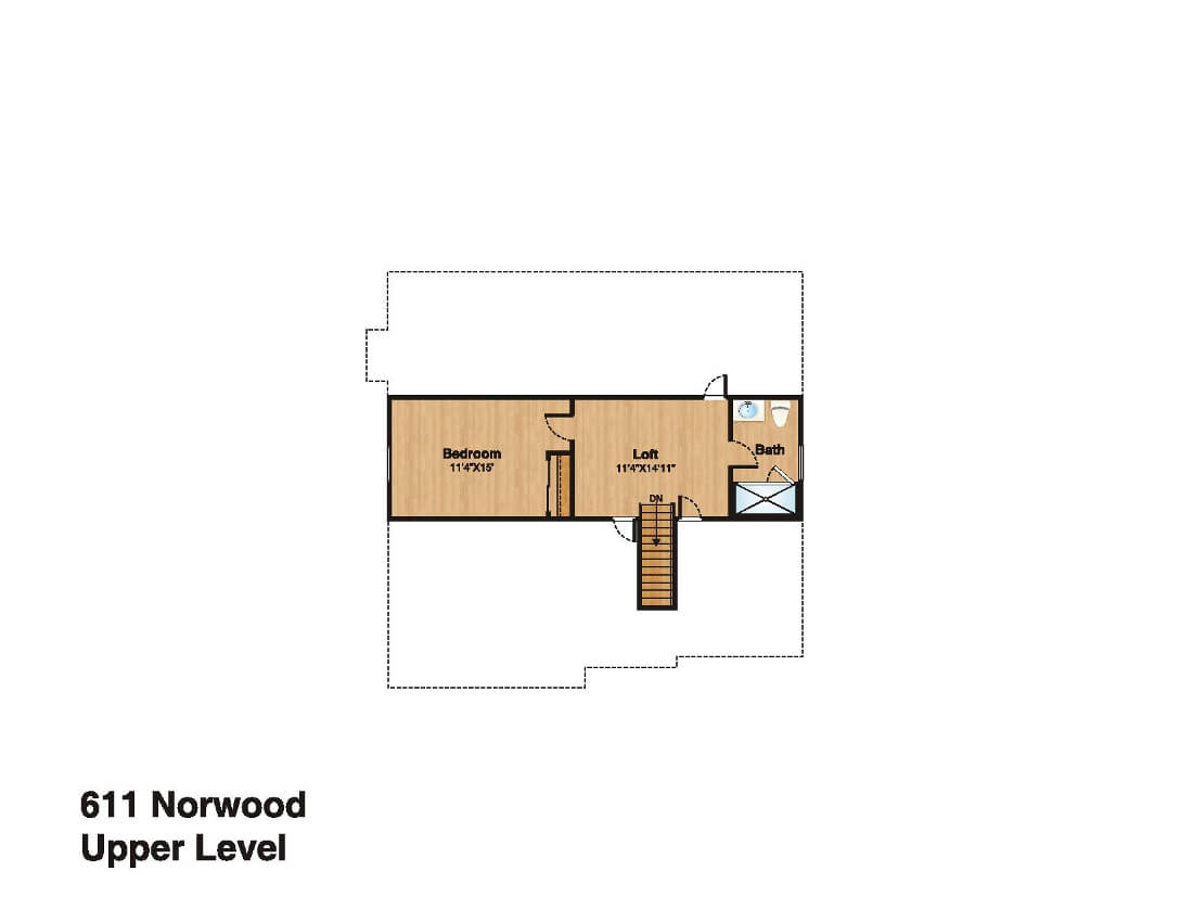 611 Norwood Attic Floor Plan