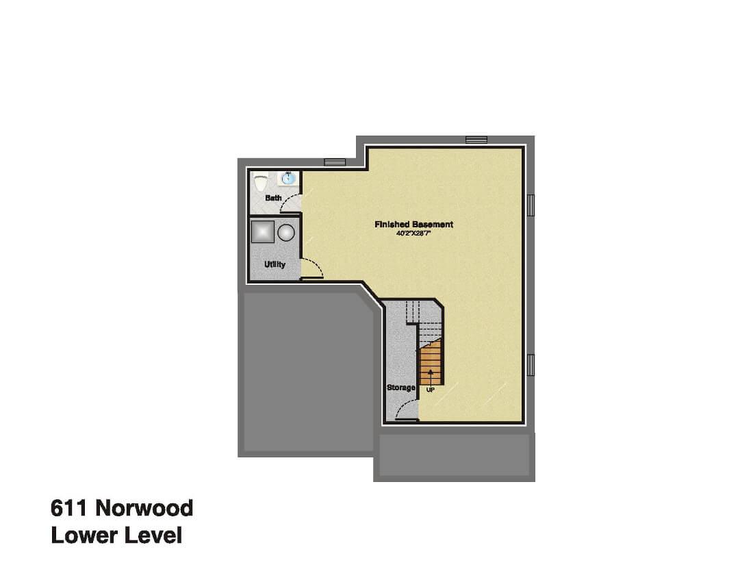611 Norwood Basememt Floor Plan