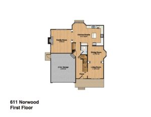 611 Norwood Drive, Westfield- First Floor Plan