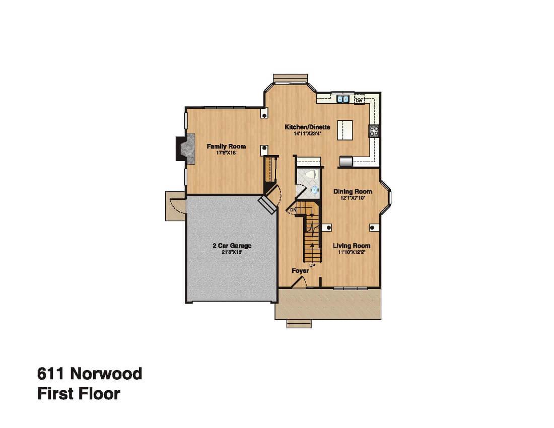 611 Norwood First Floor Plan