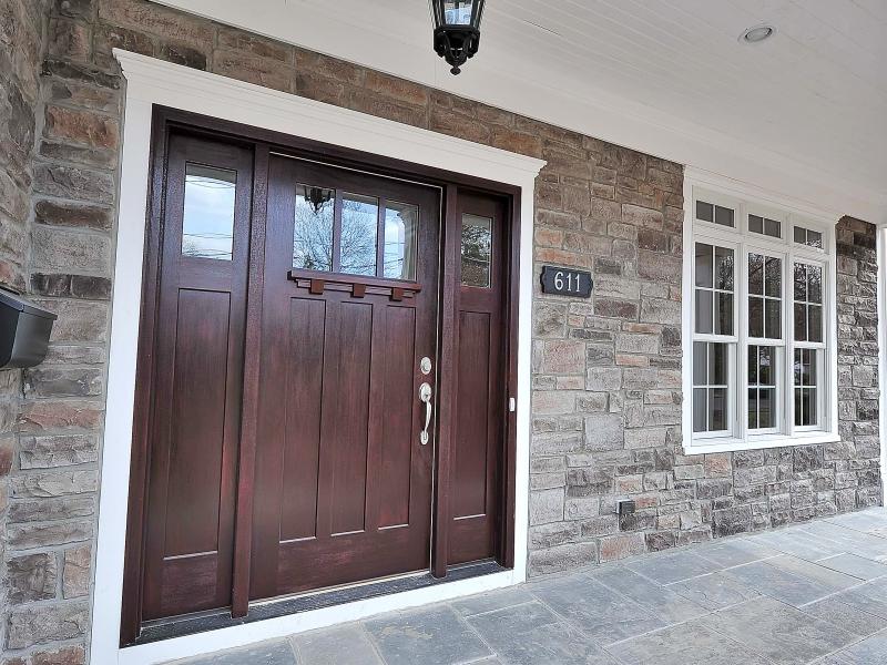 611 Norwood Front Door and Stone Work