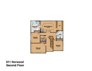 611 Norwood Drive, Westfield- Second Floor Plan