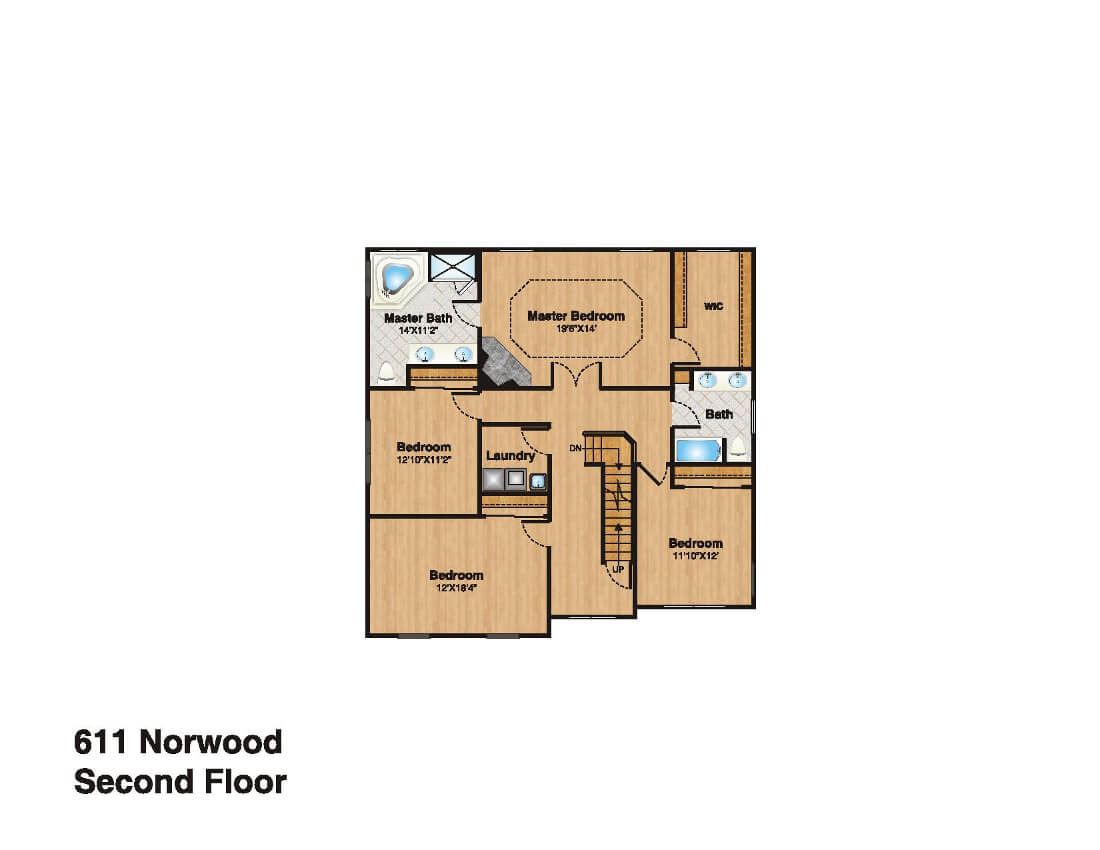 611 Norwood Second Floor Plan
