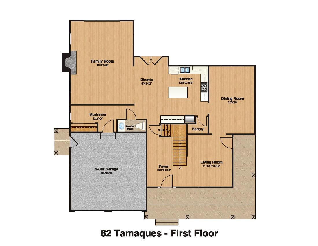 62 Tamaques 1st Floor Plan Color