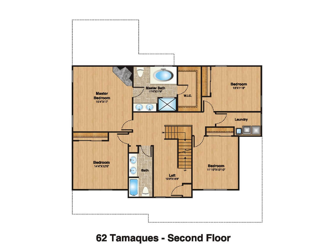 62 Tamaques 2nd Floor Plan Color