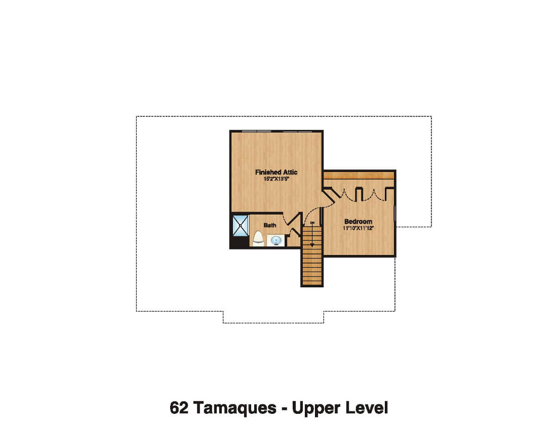 62 Tamaques Attic Plan Color
