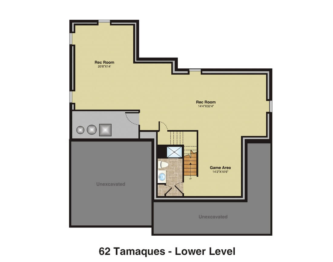62 Tamaques Basement Floor Plan Color