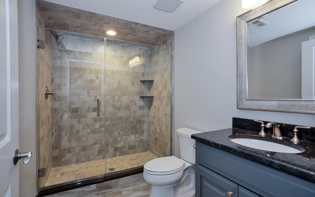 621 Green Basement Bathroom