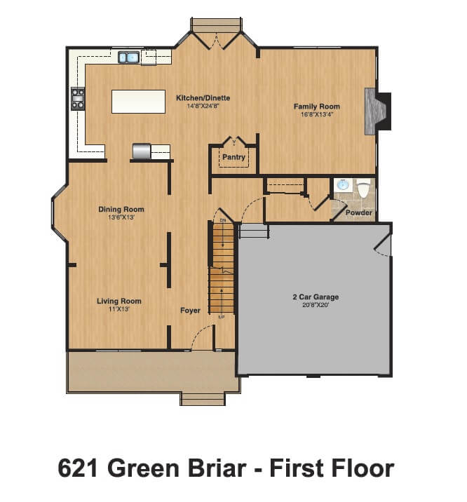 621 Green Briar 1st Floor Color