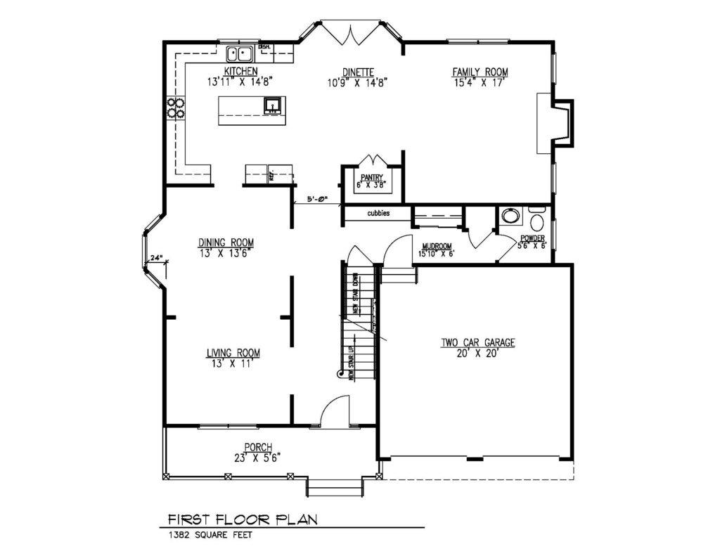 621 Green Briar Court, Westfield- 1st Floor Plan