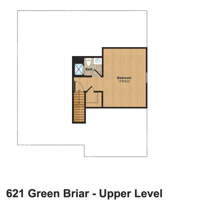 621 Green Briar Attic Color