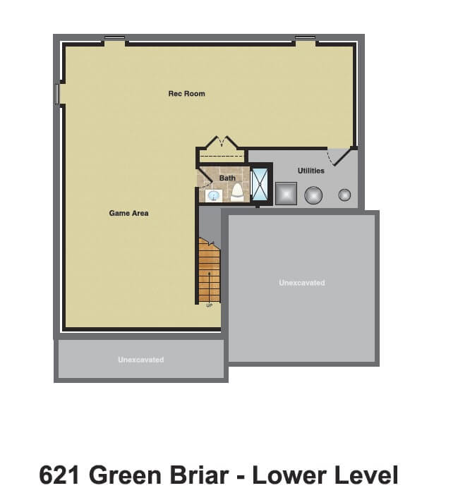 621 Green Briar Basement Color