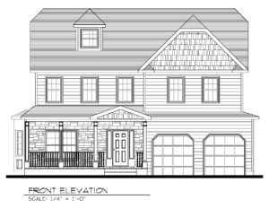 621 Green Briar Court, Westfield- Front Elevation