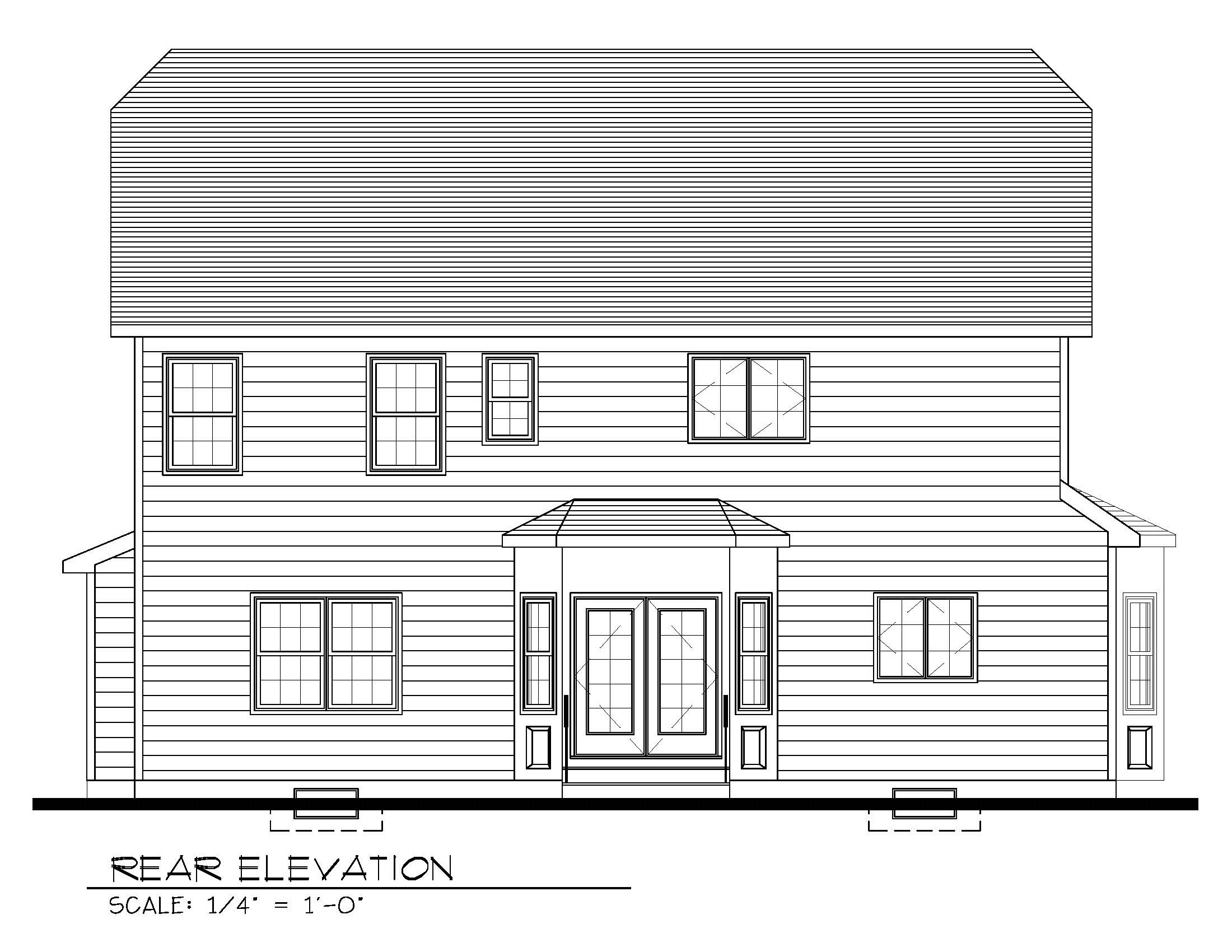 621 Green Briar Rear Elevation