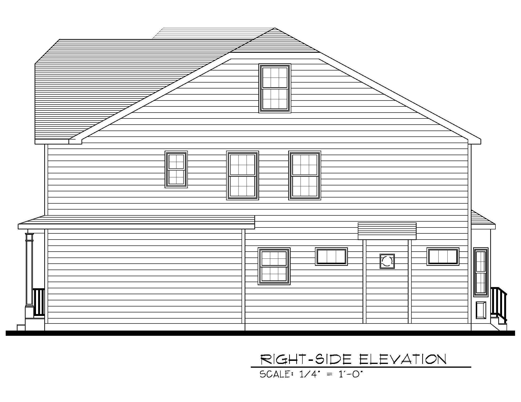 621 Green Briar Right Side Elevation