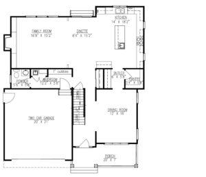 627 Leigh Drive, Westfield- 1st Floor Plan