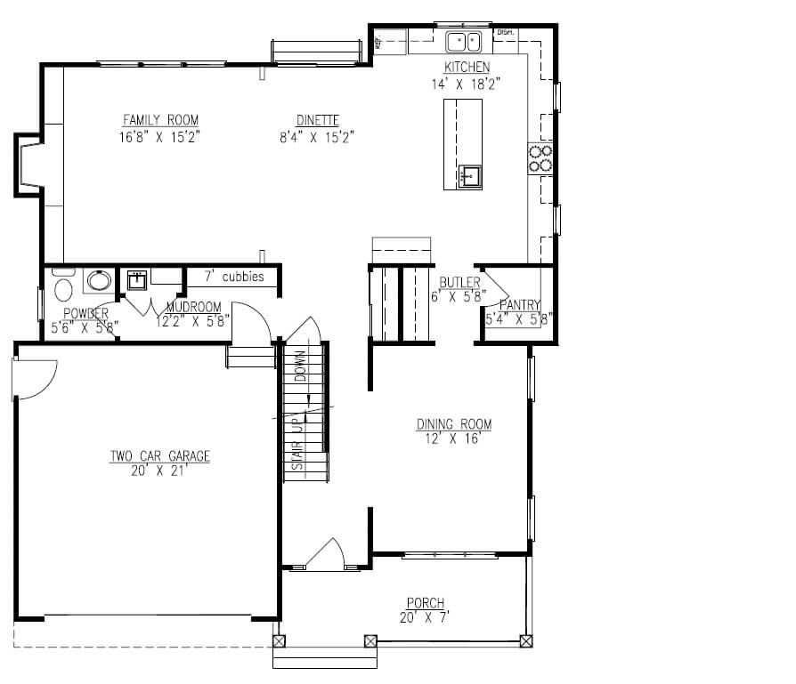 627 Leigh 1st Floor Plan