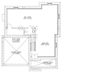627 Leigh Drive, Westfield- Basement Floor Plan